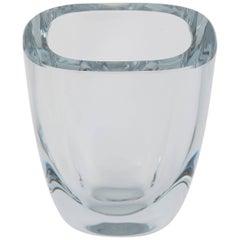 Small Rectangular Strombergshyttan Glass Vase, circa 1950s