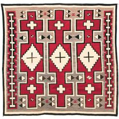 Antique Navajo Rug, Ganado Trading Post, Early 20th Century