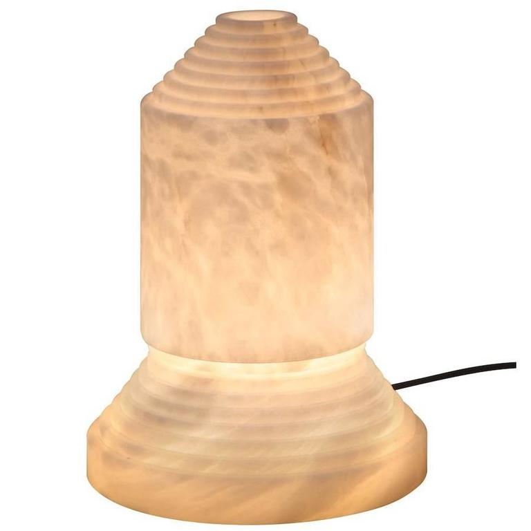 """Hand-Carved Alabaster """"Babel"""" Table Lamp by Àngel Jové for Santa & Cole For Sale"""