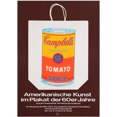 """Original Vintage American Poster Art Exhibition Poster """"Campbell's Tomato Soup"""""""
