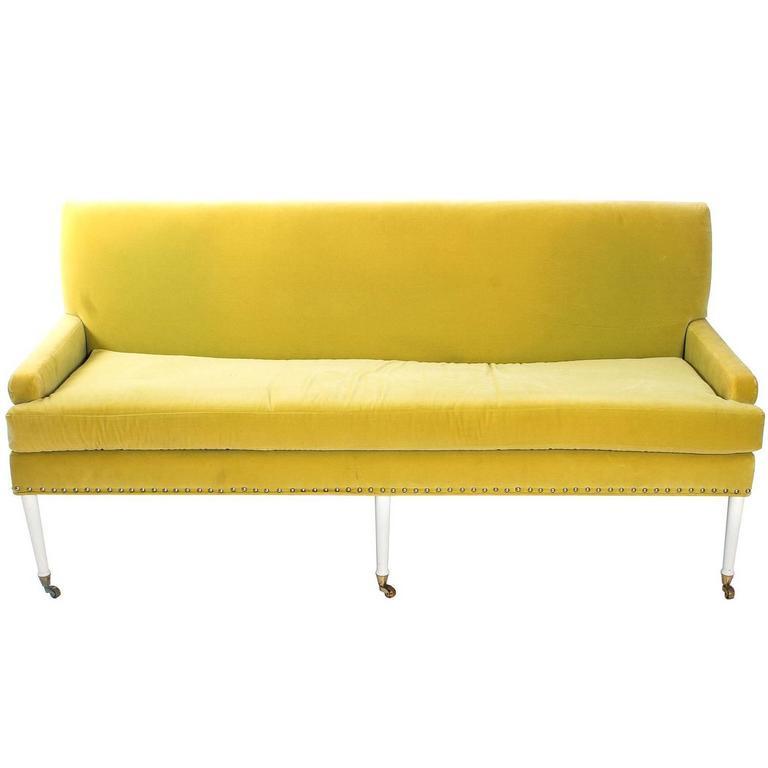 Vintage Lime Green Sofa At 1stdibs