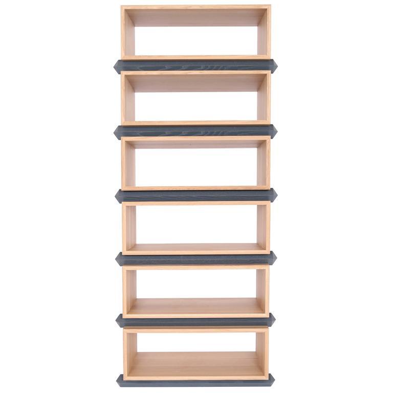 Stack Storage Six-Tier Wood Open Shelves
