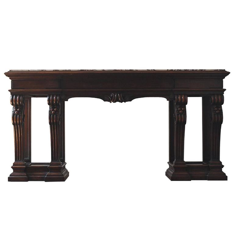 Regency Style Mahogany Console by Shaw Furniture pany