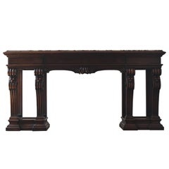 Regency Style Mahogany Console by Shaw Furniture Company