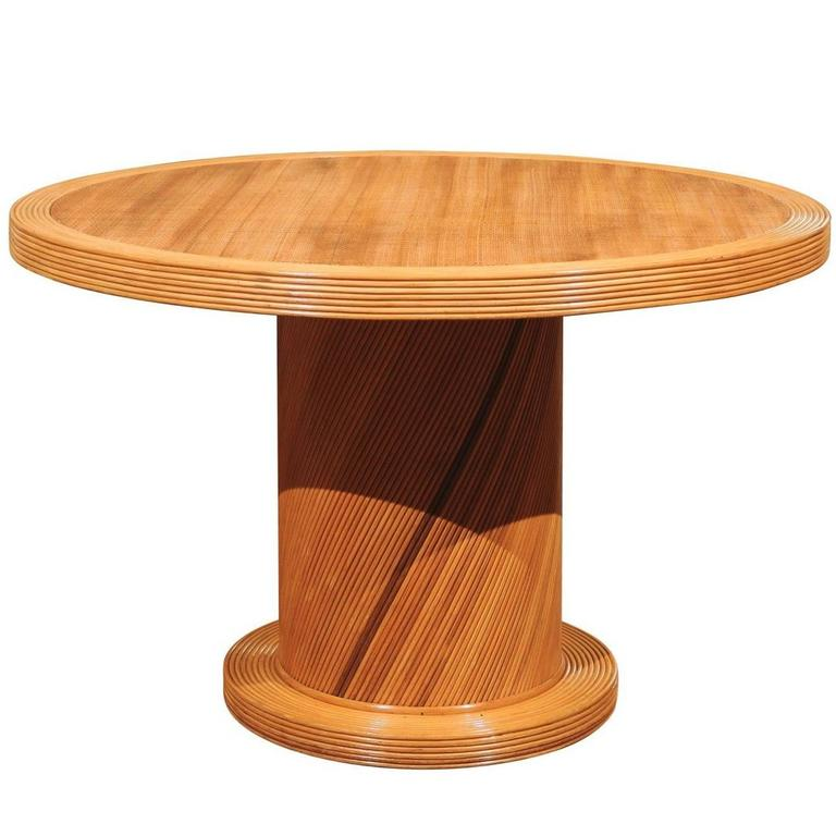 Elegant Circular Center or Dining Table by Bielecky Brothers 1