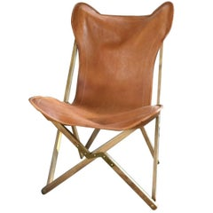 Cognac Leather Tripolina Chair