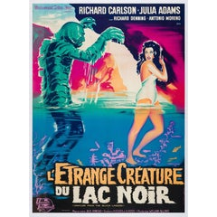 Creature from the Black Lagoon Original French Film Poster, R1962