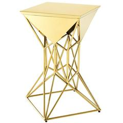 Astera Side Table in Gold Finish