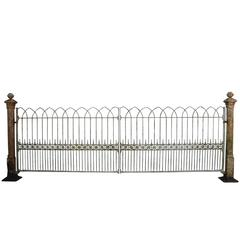 Reclaimed Pair of Wrought Iron Driveway Gates, circa 1830s