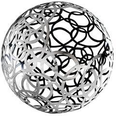 Calligramma Sphere Sculptural Centerpiece