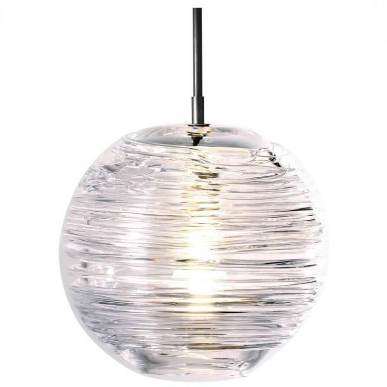 Spun Pendant Light, Clear