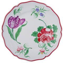 Set of Four Stylish 'Fiori' Ceramic Plates