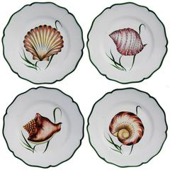 Set of Four Game of Shells Ceramic Dinner Plates