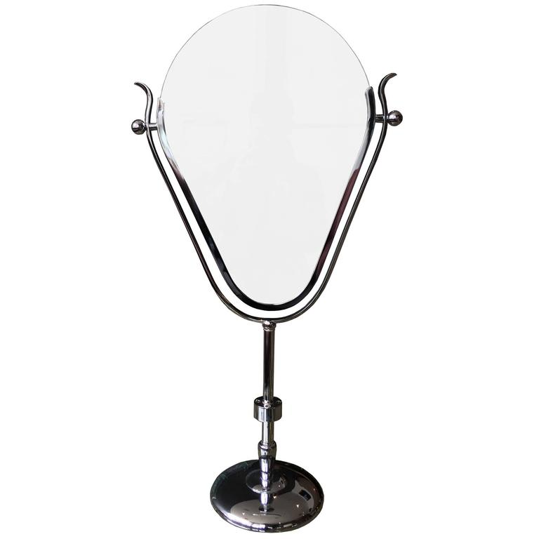 "Charles Hollis Jones ""Faces"" Vanity Mirror in Polished Nickel 1"