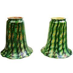 King Tut Quezal Art Glass Shades