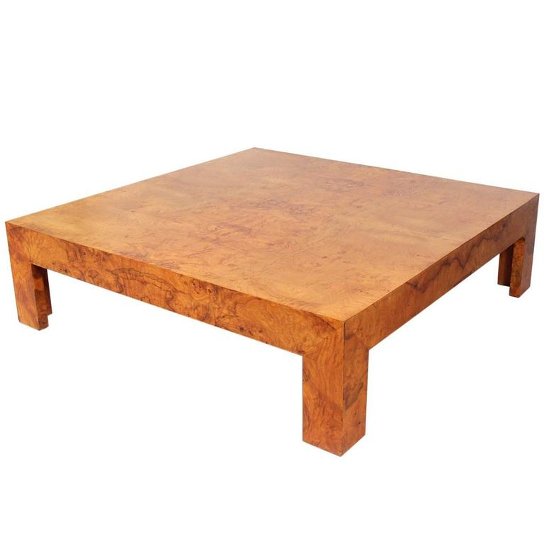 Large Scale Burl Wood Coffee Table By Milo Baughman At 1stdibs