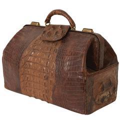 Antique Alligator Doctor's Bag Tote