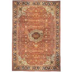 Antique Persian Ziegler Sultanabad Oriental Carpet, Mansion Size, w/ Jewel Tones