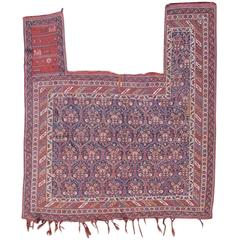 Mid 19th Century Red Afshar Sumak Horse Cover Rug With White Highlights