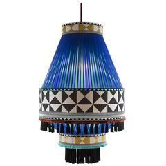 Stylish Chandelier with a Geometric Pattern by Servomuto