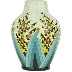 Art Deco Keramis Boch Abstract Vase