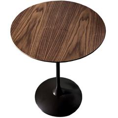 Elegant Round Walnut Tulip Coffee Table