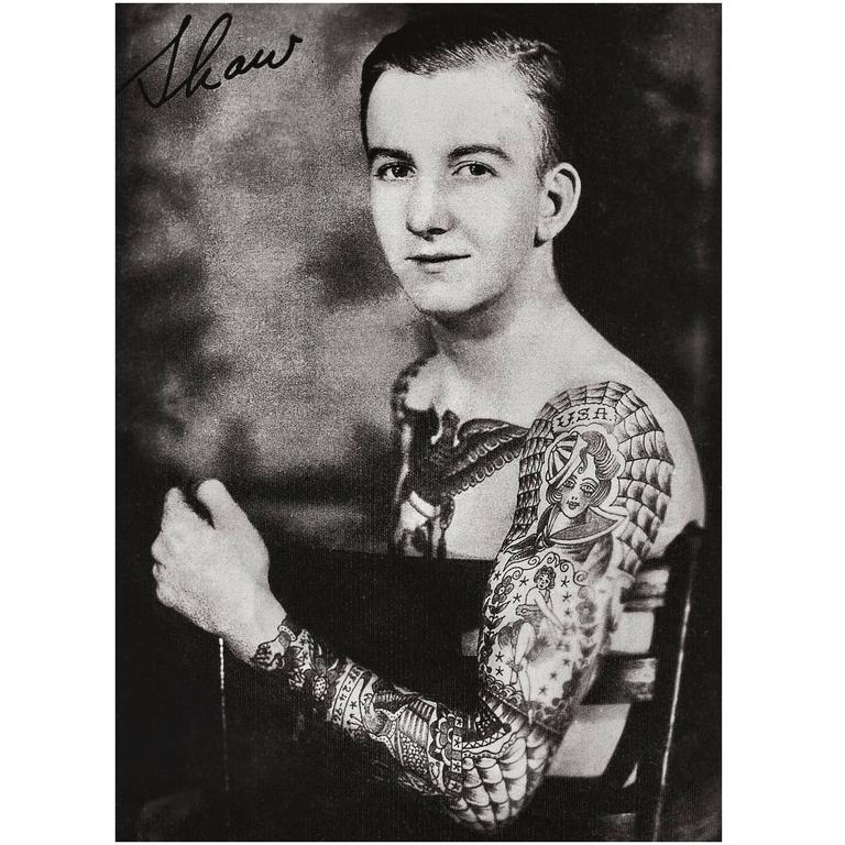 1930s Photographic Artwork Tattoo Figure