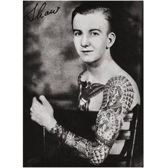 1930s Photographic Artwork Tattoo Figure