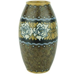 Art Deco Keramis Boch Stoneware Vase