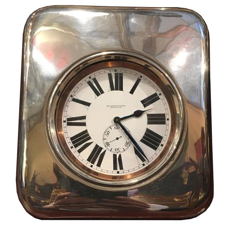 Large Sterling Silver Crocodile Skin Goliath Clock