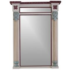 Decorative Large Antique Painted Mirror