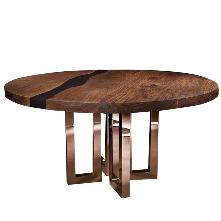 Gorgeous round black table at 1stdibs for Gorgeous dining room tables