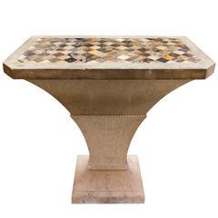 George III Portland Stone, Blue John Marble Table