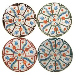 Set of Four Ceramic Izmir Dessert Plates