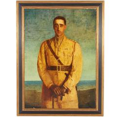 Oil on Canvas British or Commonwealth Captain, Second Boer War Era, 1899-1902