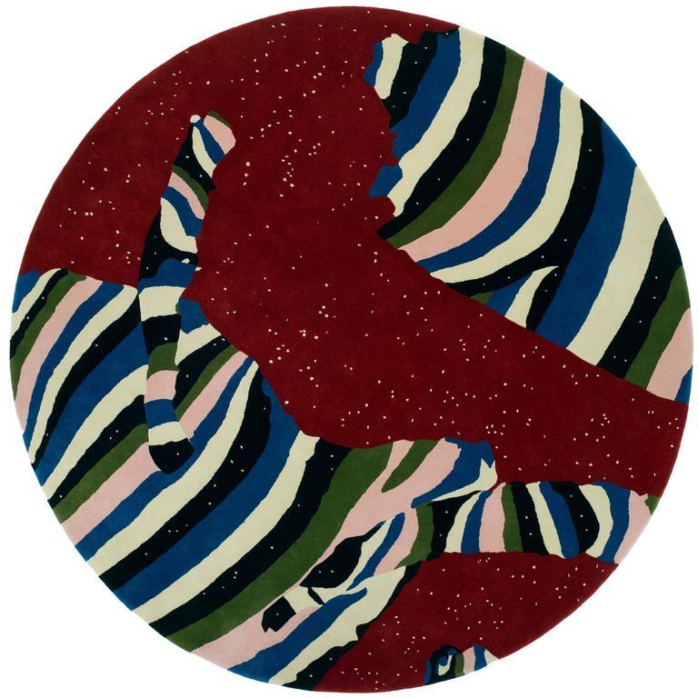 Cosmos Round Rug by Cody Hoyt + kinder MODERN in 100%, New Zealand Wool 1