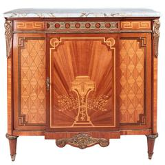 19th Century French Kingwood Marquetry and Parquetry Cabinet