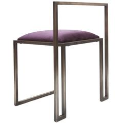 Plum Brass Clip Chair