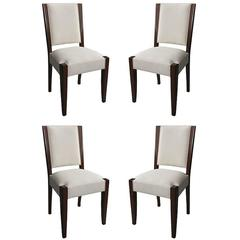 Set of Four Mahogany Chairs by Andre Sornay