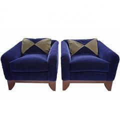 Pair of J. Robert Scott Adriano Lounge Chairs