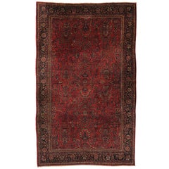 Antique Persian Sarouk Rug with Art Nouveau Style, Persian Palace Size Rug