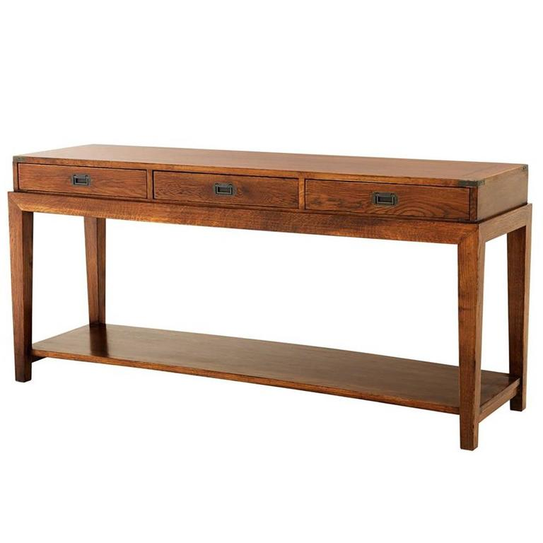 GI Console Table in Antique Oak