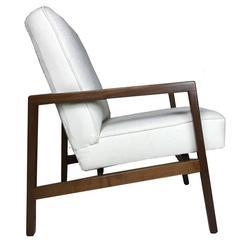 Lewis Butler for Knoll Freshly Restored Framed Lounge Chair w White Upholstery