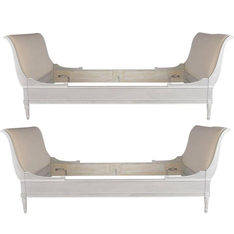 Pair of Antique French Empire Twin Beds