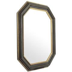 Black Vintage Mirror in Antique Gold Finish