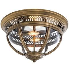 Castle Planet Suspension in Antique Brass or in Nickel or in Bronze Finish