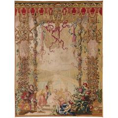 "18th Century French Beauvais Tapestry, ""Scapin and the Bathers"""
