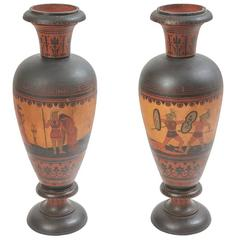 Pair of Large Attic Style Terracotta Urns, French, circa 1900