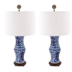 Pair of Double Happiness Lamps