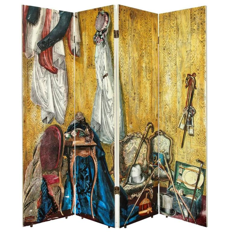 Fornasetti Four-Panel Screen For Sale